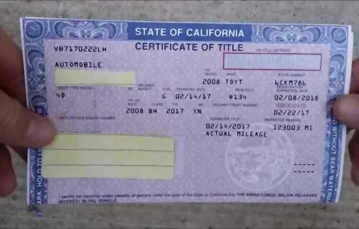 What can someone do with a stolen car title