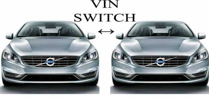 how to switch VIN numbers on a car