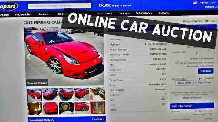how do online car auctions work