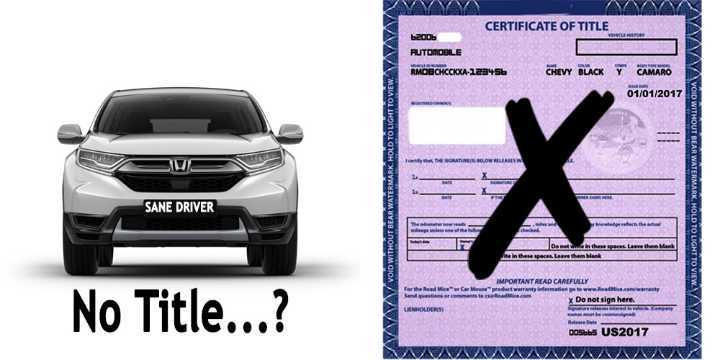 how to register a car without title