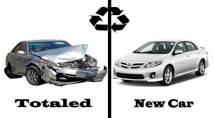 how to get a new car after total loss