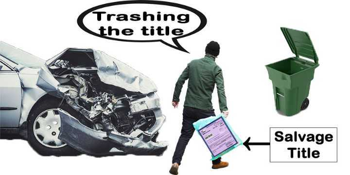 how to get rid of salvage title