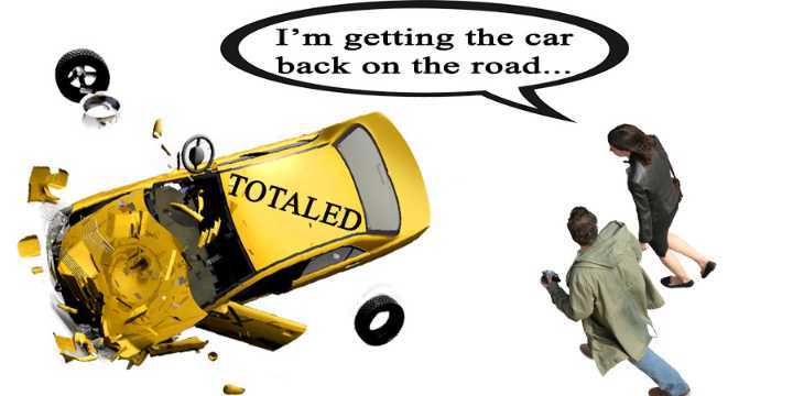 how to get a totaled car back on the road