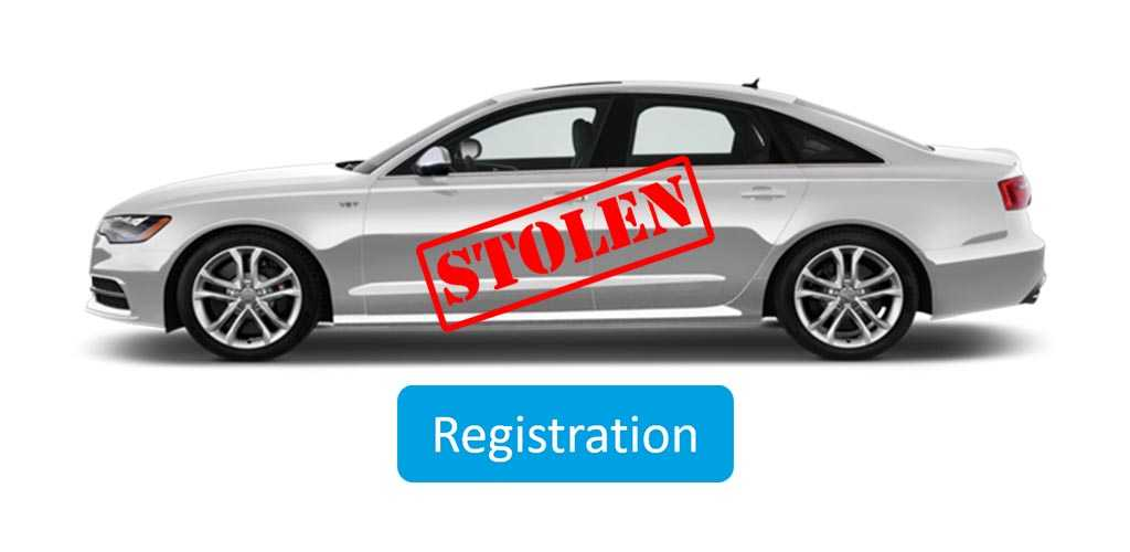 how to register a stolen car