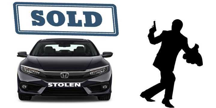 how to sell a stolen car