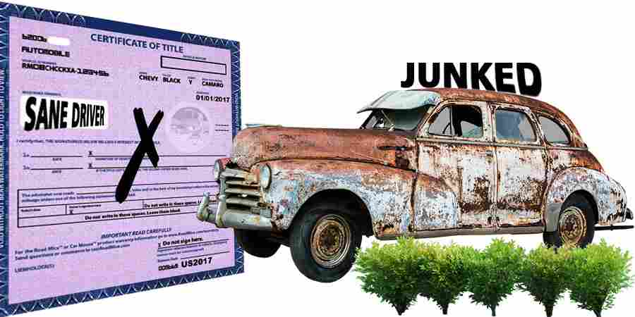 how to junk a car without title