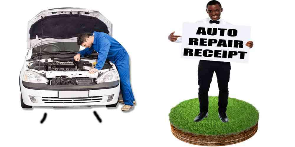 how to make a fake auto repair receipt