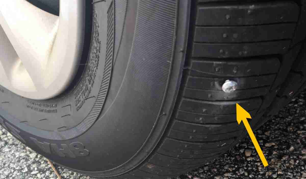 Can you drive with a nail in your tire