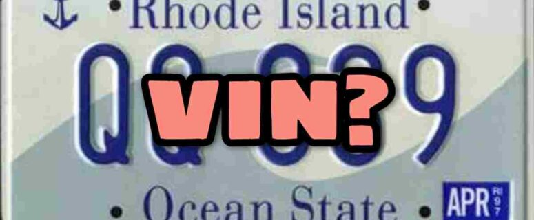 How to find a license plate number from a VIN